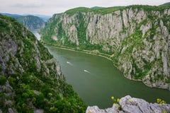 De Rivier van Donau, Roemenië Stock Afbeelding