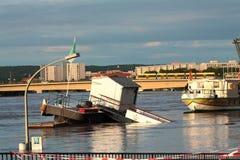 De rivier van Dresden Elbe stock afbeeldingen