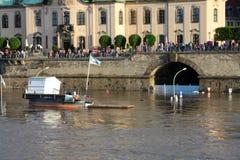 De rivier van Dresden Elbe royalty-vrije stock fotografie
