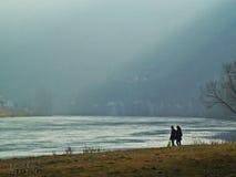 De rivier van Drina Stock Foto's