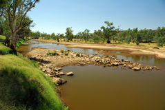 De Rivier van Finke, Australië royalty-vrije stock fotografie