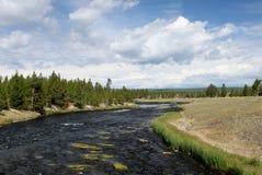 De Rivier van Firehole - Park Yellowstone Royalty-vrije Stock Foto's