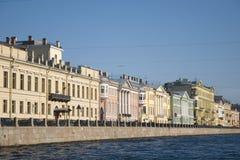 De rivier van Fontanka Stock Foto's