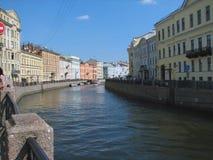 De rivier van Fontanka Stock Afbeeldingen