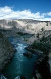 De rivier van Fraser in de lente Stock Foto