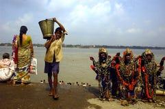 De Rivier van Ganga in Kolkata. Stock Afbeeldingen