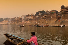 De rivier van Ganges. India Royalty-vrije Stock Foto