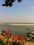 De Rivier van Ganges in Varanasi, India Royalty-vrije Stock Foto