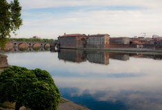 De rivier van Garonne Royalty-vrije Stock Afbeeldingen