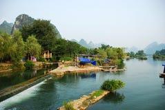 De rivier van het dagelijkse levensLi in Guilin Yangshou China Royalty-vrije Stock Afbeelding