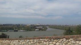 De rivier van de het daglichtzomer van Belgrado Royalty-vrije Stock Afbeelding