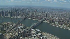 De rivier van het de stadsoosten van New York stock videobeelden