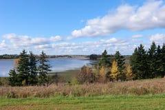 De rivier van het oosten in PEI royalty-vrije stock fotografie