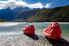De rivier van het pijltje, Glenorchy, Nieuw Zeeland royalty-vrije stock afbeeldingen