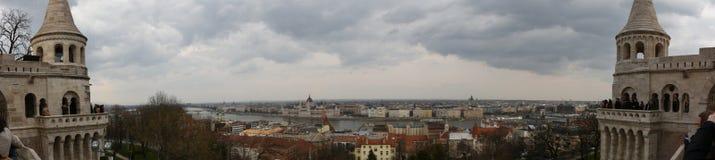 De rivier van Hongarije Boedapest Donau stock foto's