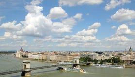 De rivier van Hongarije, Donau in Boedapest Stock Fotografie