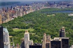 De Rivier van Hudson van het Central Park van gebouwen, de Stad van New York Royalty-vrije Stock Afbeeldingen