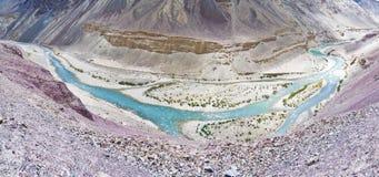 De rivier van Indus Stock Afbeelding