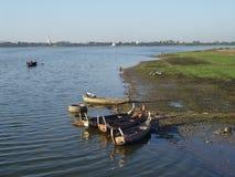 De rivier van Irrawaddy Stock Foto's