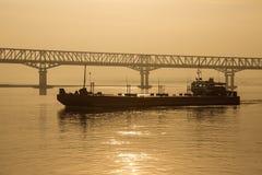 De Rivier van Irrawaddy - Myanmar Stock Foto
