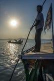 De Rivier van Irrawaddy - Myanmar Stock Fotografie
