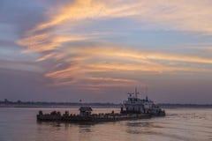 De Rivier van Irrawaddy - Myanmar Royalty-vrije Stock Foto's