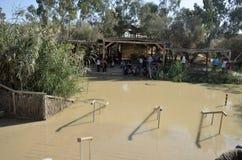 De rivier van Jordanië de plaats van doopsel Stock Foto