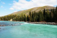 De rivier van Kanas Royalty-vrije Stock Afbeeldingen