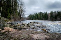 De rivier van Karelië Stock Afbeeldingen