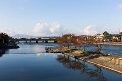 De rivier van Kyoto, Osaka, Japan Royalty-vrije Stock Fotografie