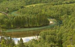 De rivier van Laksaga Royalty-vrije Stock Foto's