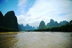 De Rivier van Lijiang, Guilin, China stock foto's