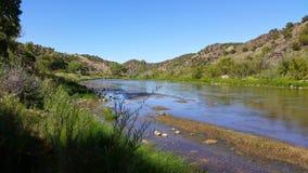 De rivier van LMOE, Noordelijk New Mexico, 1 September, 2014 stock afbeeldingen