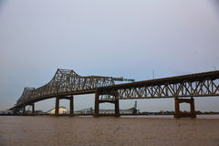 De rivier van Louisiane Horace Wilkinson Bridge Mississippi royalty-vrije stock afbeeldingen