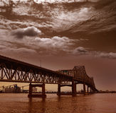 De rivier van Louisiane Horace Wilkinson Bridge Mississippi stock foto