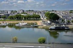 De rivier van Maine in Angers in Frankrijk Royalty-vrije Stock Foto