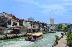 De Rivier van Malacca Royalty-vrije Stock Foto's