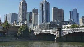 De Rivier van Melbourne Yarra stock videobeelden