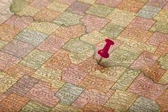 De Rivier van Missouri op uitstekende kaart Stock Foto's