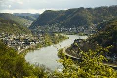 De rivier van Moezel Stock Afbeeldingen