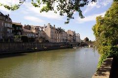 De rivier van Moezel (Metz - Frankrijk) Stock Afbeelding