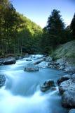 De rivier van Mzymta in Krasnaya Polyana Stock Foto's