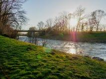 De rivier van Neckar in Zuidelijk Duitsland royalty-vrije stock fotografie