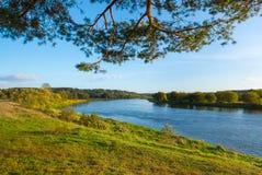 De rivier van Neris Stock Foto