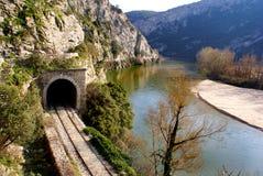De rivier van Nestos in Thrace, Griekenland Royalty-vrije Stock Afbeeldingen