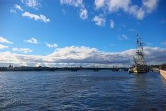 De rivier van Neva Stock Foto