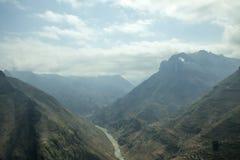 De rivier van Nhoque, bij Ha Giang, berggebied in Noord-Vietnam royalty-vrije stock afbeelding