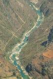 De rivier van Nhoque, bij Ha Giang, berggebied in Noord-Vietnam royalty-vrije stock foto