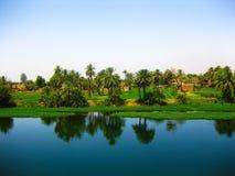 De rivier van Nijl, Egypte stock afbeeldingen