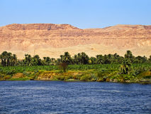 De rivier van Nijl, Egypte Stock Foto